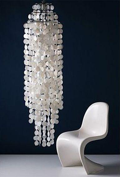 Schelpenlamp - shelllamp XL | Lampen - Retro verlichting | Design meubels, Retro verlichting & cadeaushop, Space Age new vintage, verner panton look a like