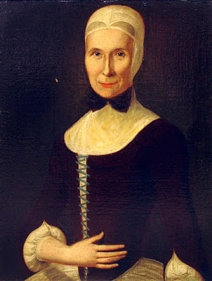18th-century American Women: Paintings Johann Valentin Haidt  Moravian woman (see others on this blog)