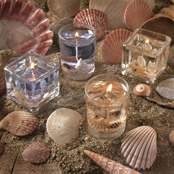 Beach Wedding Favors   Beach Candle Wedding Favors - Pack of 4