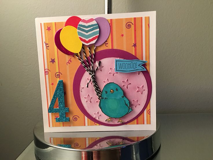 Chickie card Stampin up!