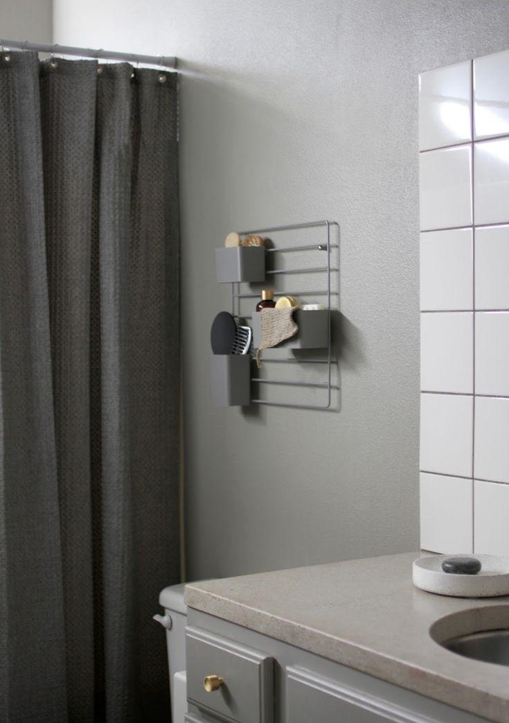 AMM blog: String grid as a bathroom organizer