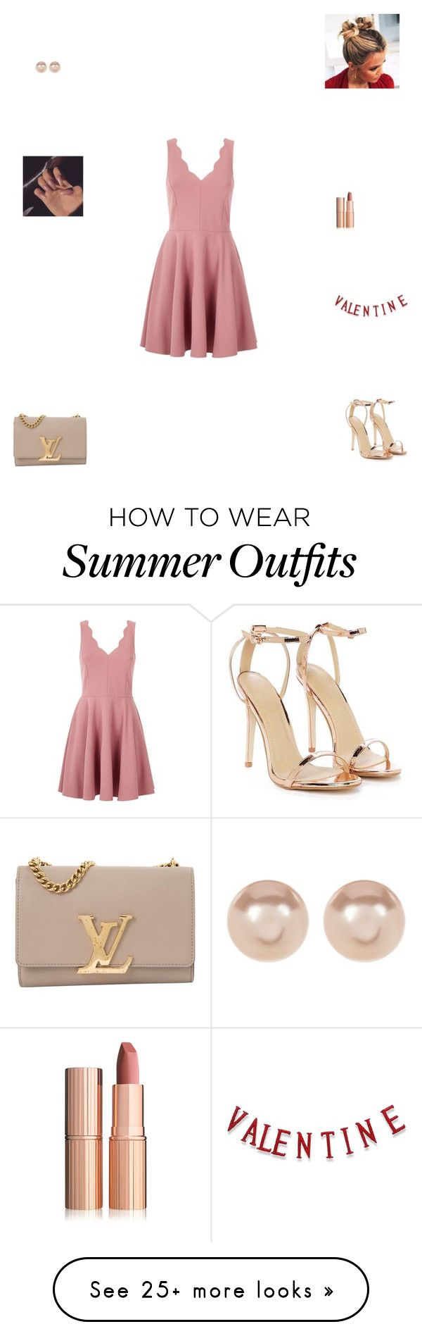 """""""Valentine's Day outfit #1"""" by synclairel on Polyvore featuring Nasty Gal, Louis Vuitton and Nordstrom Rack"""