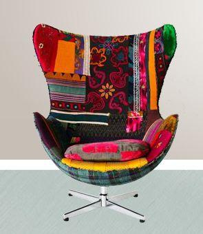 Bokja Design Studio, Beirut, Lebanon - amazing patchwork - upholstery - arm chair