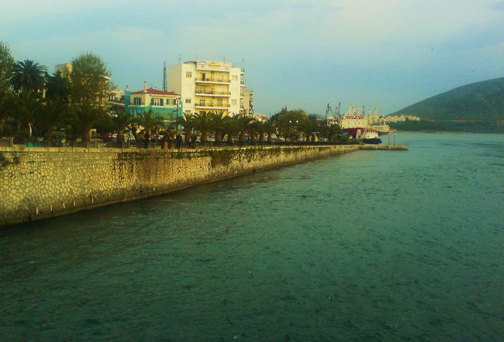 Chalkida with two ports in Euripos