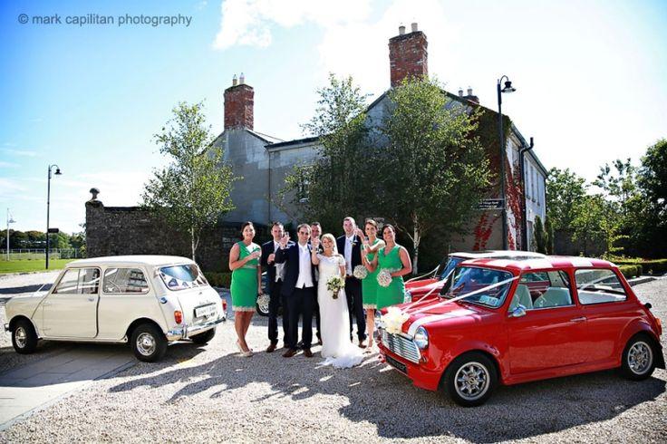 Classic Car minis & bridal party Castle Dargan Ireland wedding photographer Sligo