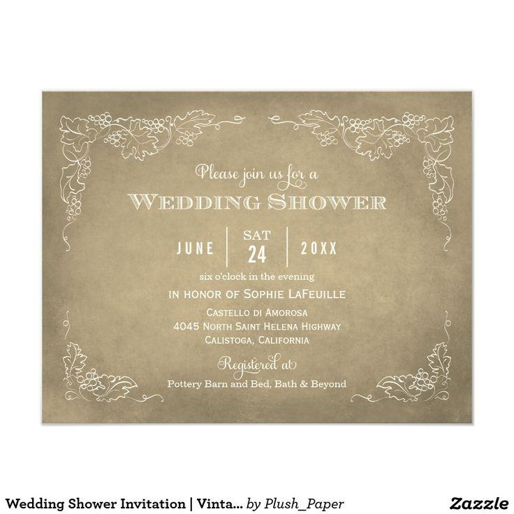 416 best Vintage Wedding Invitations images on Pinterest ...