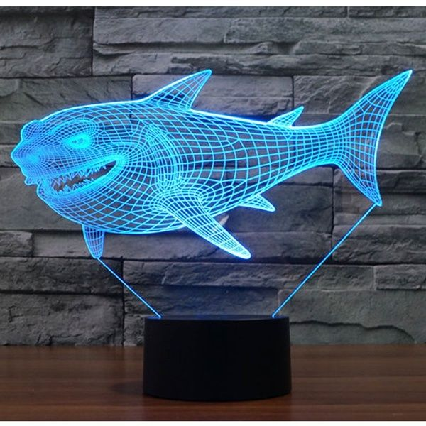 Baby 3d Night Light Led Shark Table Lamp 7 Colors Light Home Decoration Lamp Gift Wish 3d Led Night Light Owl Night Light Led Night Light