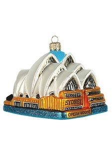 Sydney Opera House Polish Mouth Blown Glass Christmas Ornament Tree Decoration
