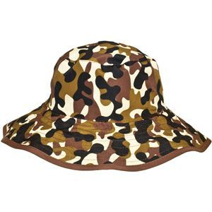 Brown Camo Bucket Hat Reversible (Age 0-2) @ Picky Picky me .com