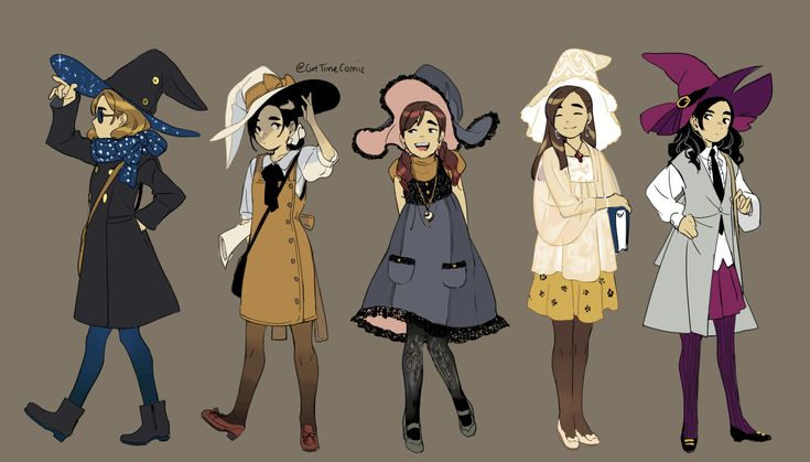 My idea of #witchsona = self portraits + witch hat I got carried away. These are all me. I love me apparently ★Patreon ★Shop