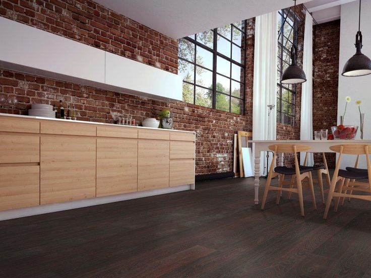 Parkettboden dunkel küche  Die besten 20+ dunkler Holzboden Ideen auf Pinterest | Graue wände ...