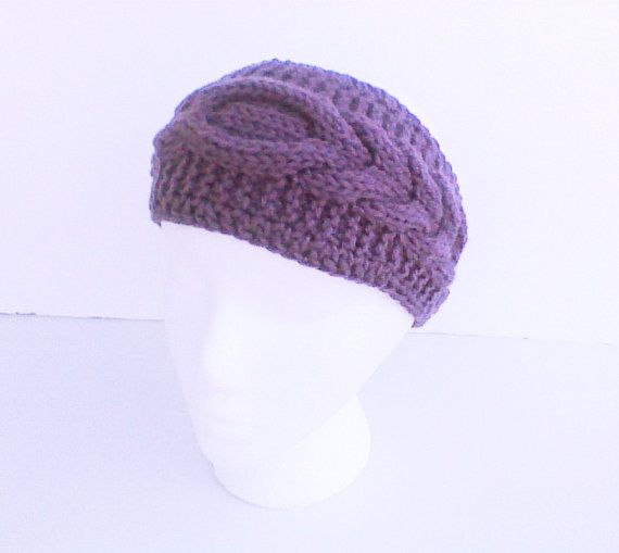 Hey, I found this really awesome Etsy listing at https://www.etsy.com/listing/182616801/dark-mauve-purple-cable-headband