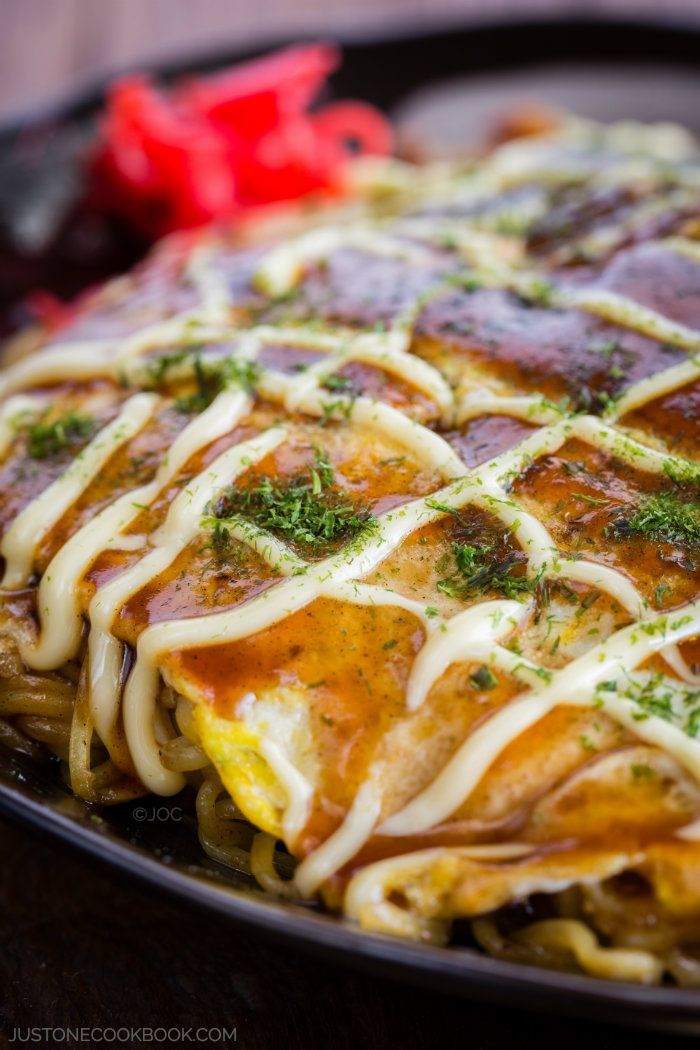 Hiroshimayaki (Hiroshima Style Okonomiyaki)   Easy Japanese Recipes at ...