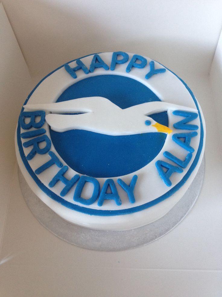 Brighton and Hove Albion vanilla cake