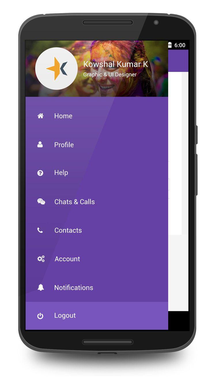 Whatsapp Menu Design Concept PSD - Download free PSDs, Website template PSDs UI PSDs all free