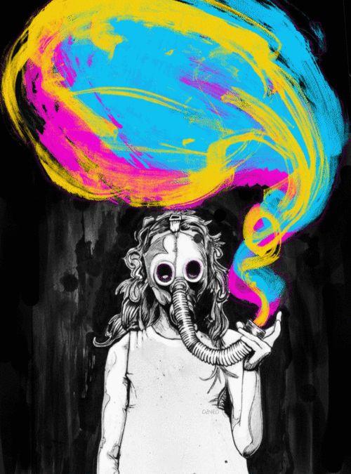 Os gifs psicodélicos que mais parecem obras de arte moderna você só encontra AKI!