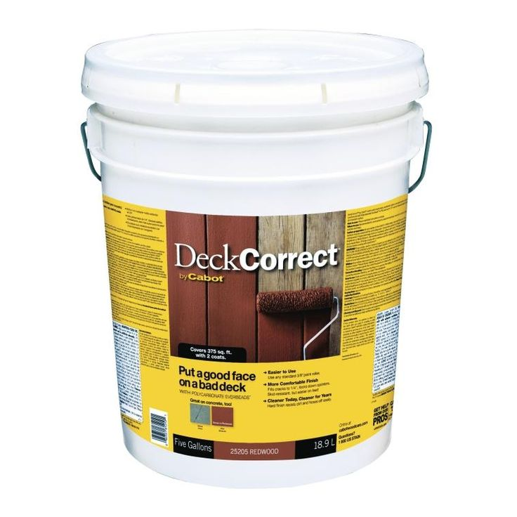 Cabot 140.0025205.008 Deck Correct Wood Deck Sealer, 5 Gallon