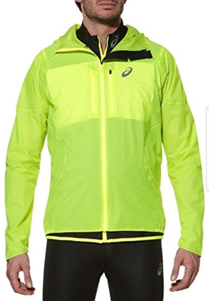 35d490aaaf5a ASICS ELITE Running Jacket Yellow Jogging Lightweight Waterproof Jacket.  Men s RRP  £160  ASICS  JacketsGilets  Running  Mens  Training