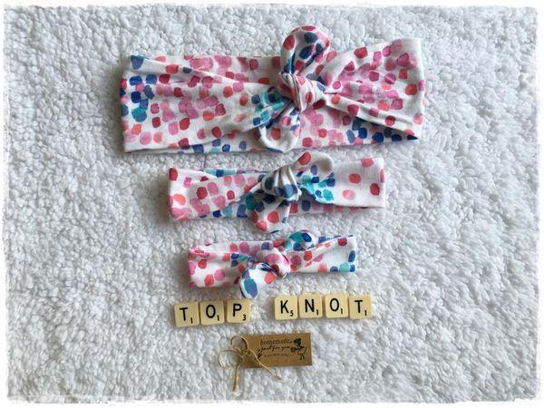 Image of 'White Summer Splash' Top Knot