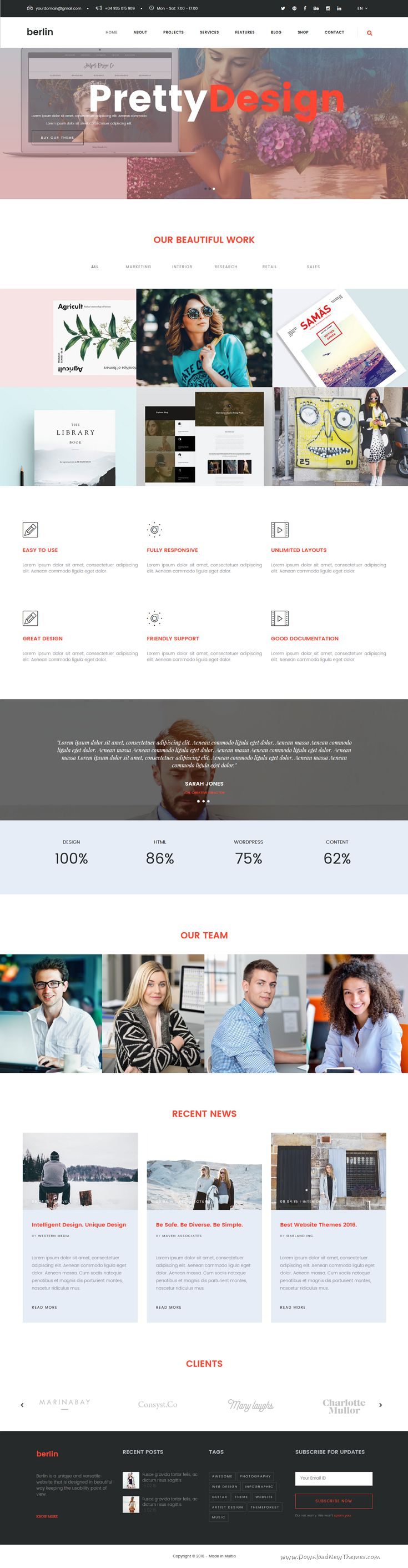 Berlin is modern and unique 12 in 1 Bootstrap based HTML 5 template for #business, education, #agency, portfolio or resume #website. Download Now!