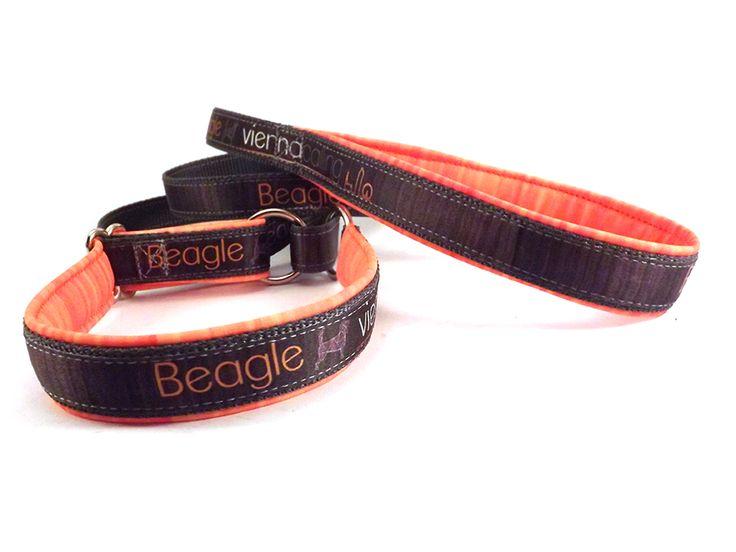 Kennel logóval ellátott egyedi nyakörves póráz.  http://www.viennacalling.info/