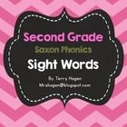 This product contains all second grade Saxon Phonics sight words.  There are four words on a page.  The product coordinates with my chevron word wa...