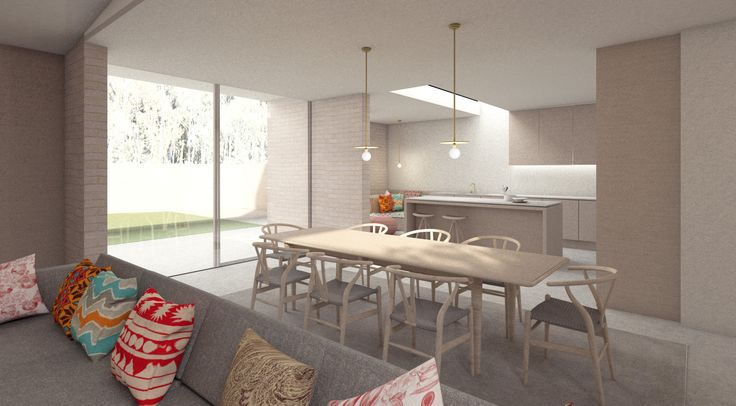 House for a film maker in London: extension kitchen and dining area. architectureforlondon.com