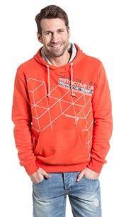 Angelo litrico Sweatshirt oranje. Heren-sweatshirt met capuchon en kangeroezakken, #oranje #wkvoetbal #wkbrazilie2014 #wkoranje #oranjeproducten