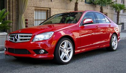Mercedes Benz C 300. I said I wouldn't buy another red car, because I've already had two of them. But I LOVE this car!