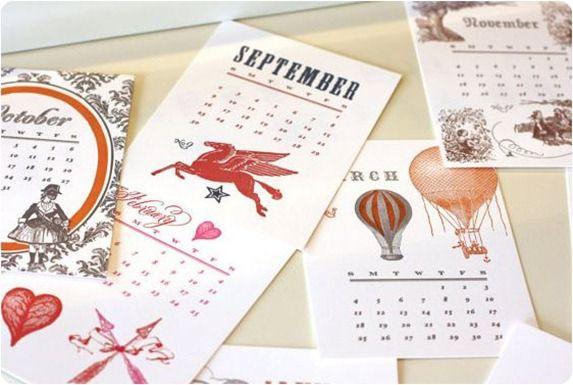Letterpress Calendars