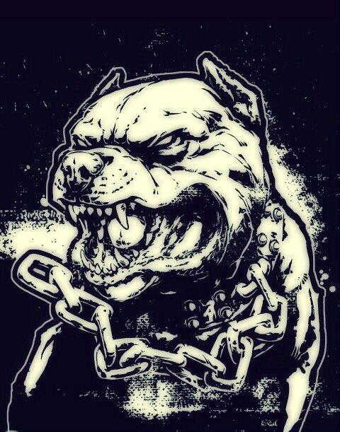 Sketch Pitbull Tattoo