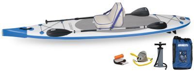The NeedleNose Deluxe Package offers the best of both worlds, combining the benefits of both sit down and stand up paddling. Whether you`re using the adjustable SUP paddle or double bladed paddle while sitting on the securely attached Deluxe Kayak Seat, you`re sure to have the time of your life!