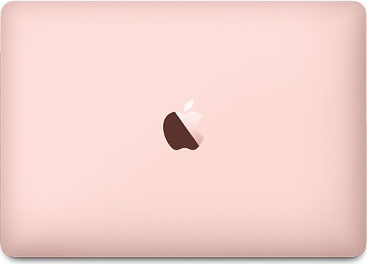 Customize your MacBook, choose from rose gold, silver, gold, or space gray