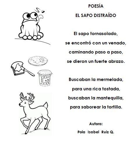 Poemas infantiles PARA COLOREAR DE SAPOS - Imagui