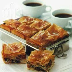 Foto recept: Baklava met fruit en noten