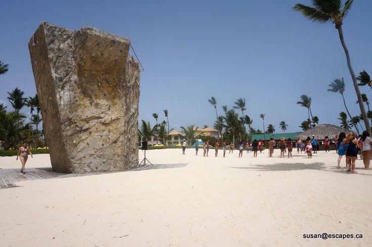 Rock Climbing, Ocean Blue and Sand Punta Cana
