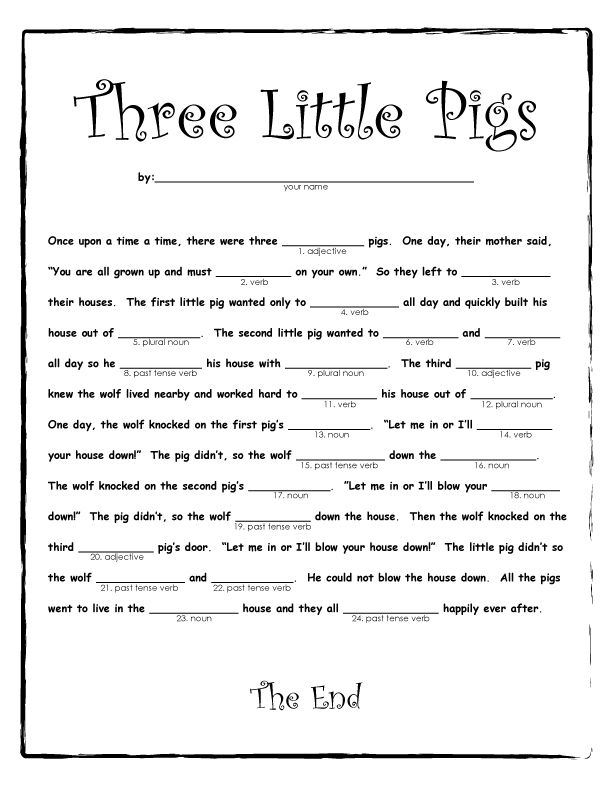 Mad Libs - National Tell a Fairy Tale Day and a great opportunity to read to your kids. We are encouraged to explore myths, fantasy and fables, old, new or imagined by you on the spot. A fairy tale is a fictional story that may feature fairies, trolls, giants and talking animals. These stories often include enchantments and far-fetched events. For parents of boys (and girls not hit with the princess bug) there is good news: not ...