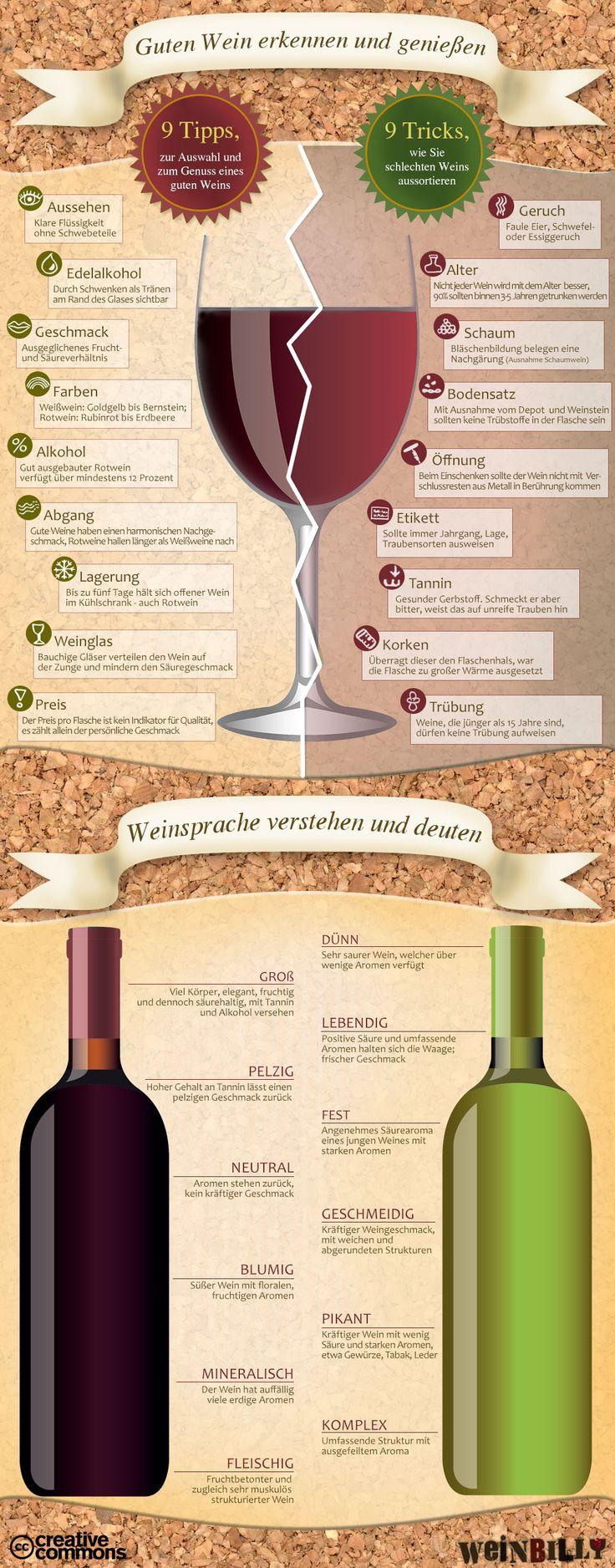 Woran man guten #Wein erkennt #Wine                                                                                                                                                     Mehr