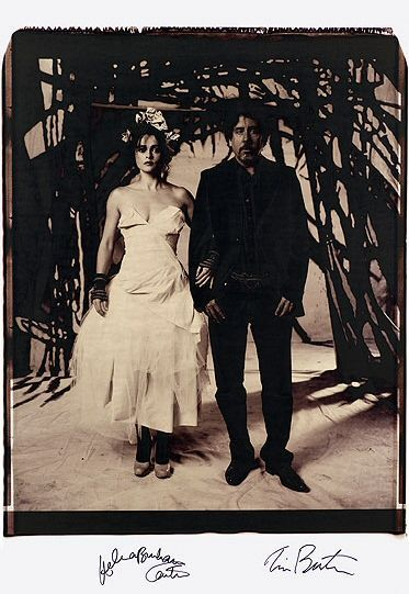 Tim Burton and Helena Bonham Carter photographed by Vivienne Westwood