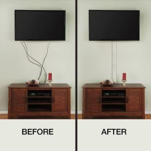 CE TECH Flat Screen TV Cord Cover-A31-KW at The Home Depot