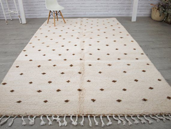 Beni Ourain Rug Beni Ouarain Brown Spots Rug Moroccan Rug Etsy Wool Origin Morocco Beautiful Contemporary Authentic Beni Ourain Rugs Rugs Beni Ourain
