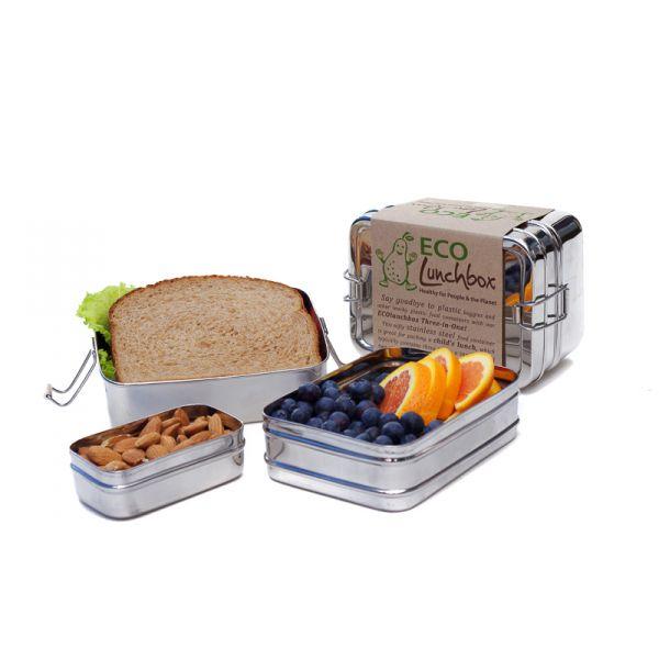 3-in-1 Edelstahl-Lunchbox - beechange.com