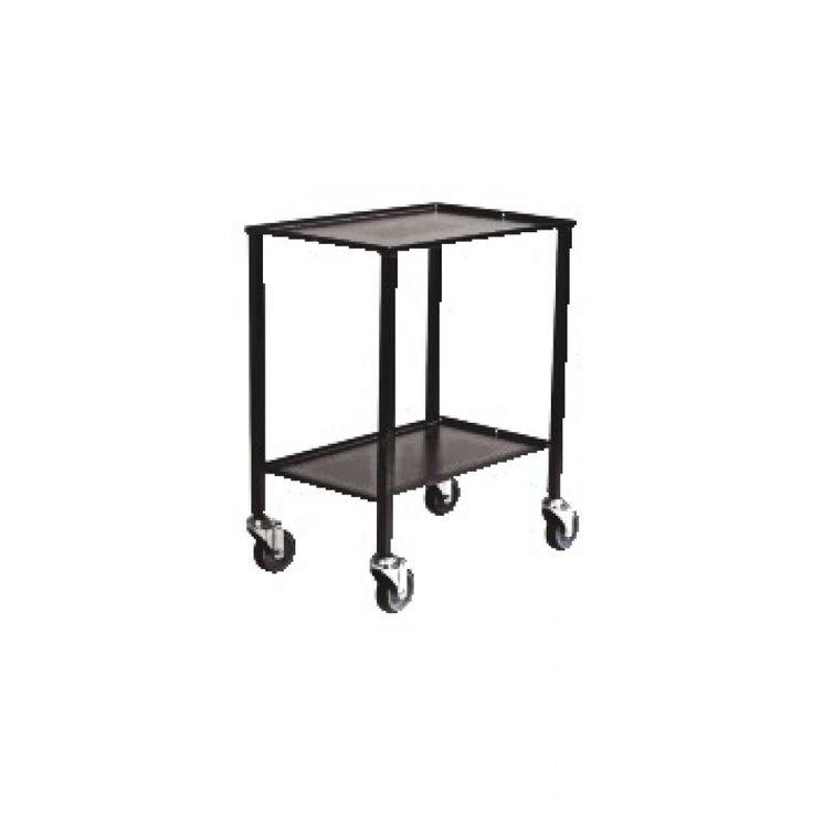 Rullbord 2 hyllplan antracitgrå Köp Vagnar online på nätet hos kontorsproffset.se