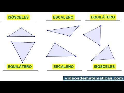 Clasificacion de los triangulos segun sus lados para niños