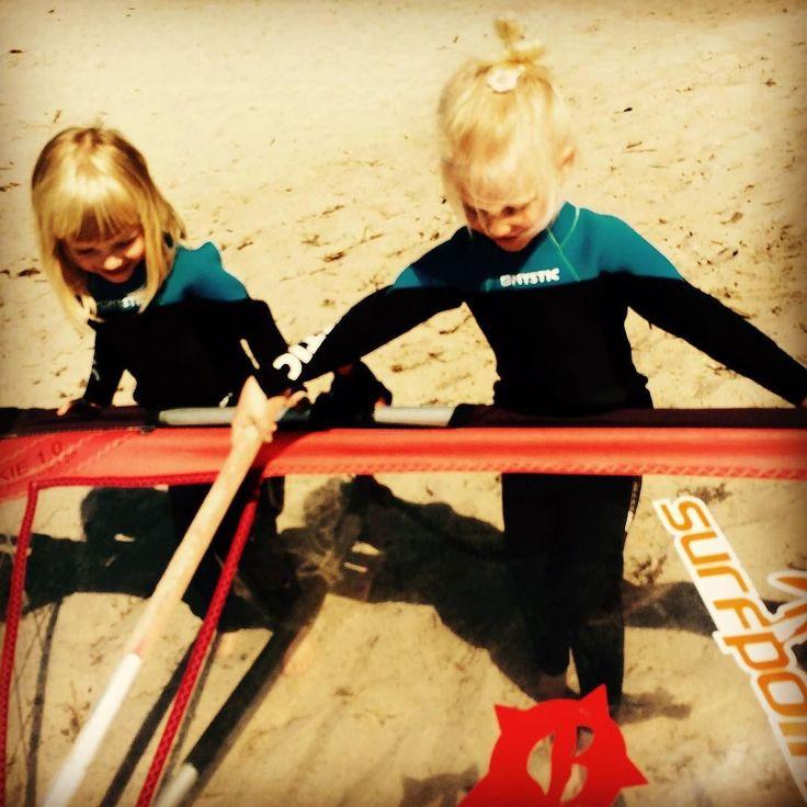 Check out our Surf clothing here! http://ift.tt/1T8lUJC Małe surferki #littlesurfer #surfgirl #surfpoint #surflife #surfer #beach #bay #balticsea #kids #poland #jastarnia #kiteschool #windsurfing #windsurfer