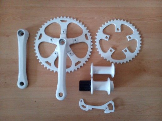Powder Coated in white