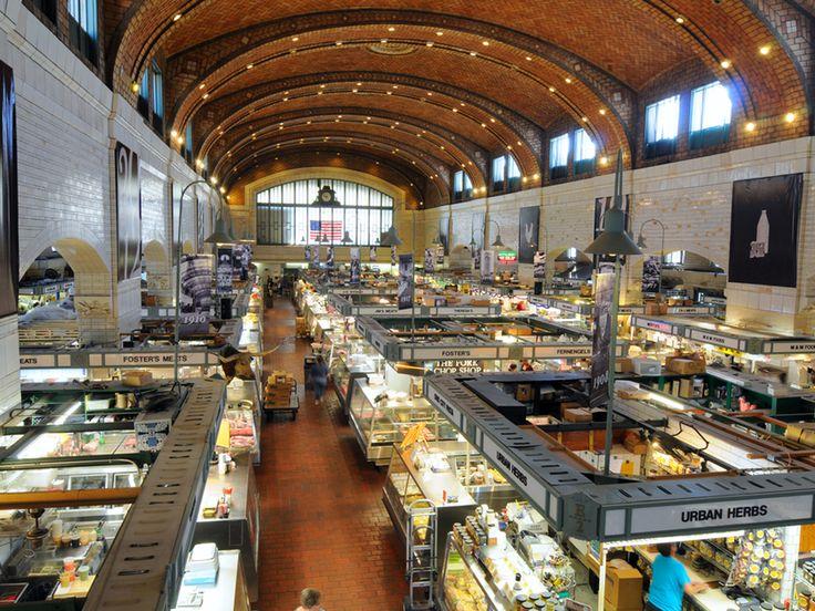 West Side Market, Cleveland comprises an indoor as well as an outdoor market. At the outdoor market, visitors will find dozens of vendors selling fresh fruits and vegetables  Read more: http://www.mapsofworld.com/travel/destinations/usa/west-side-market#ixzz2hg3PPoAD