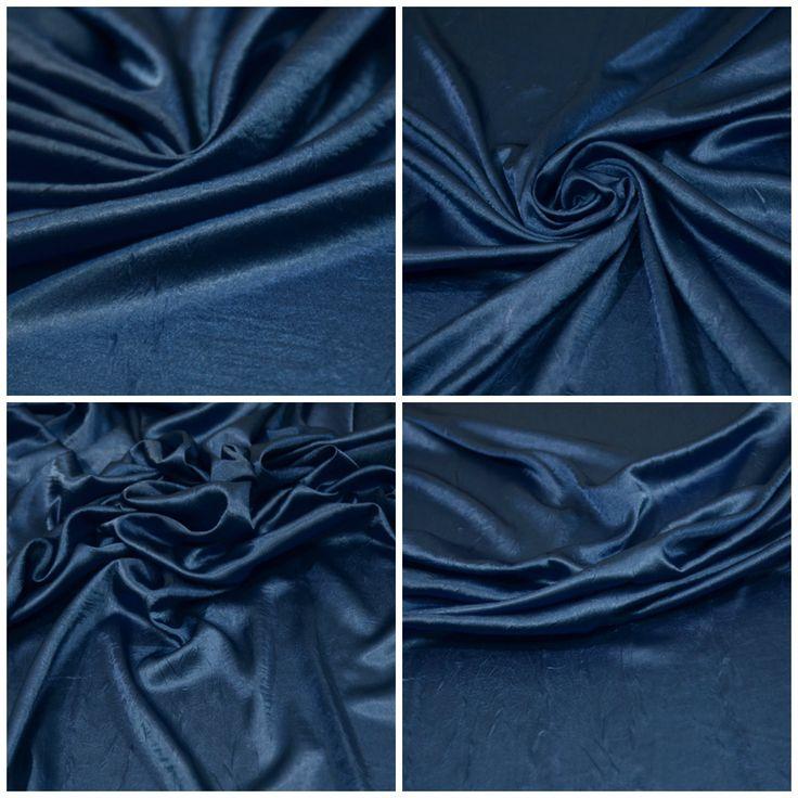 """Блузочная ткань, атлас арт. 12-300-0144 Ширина: 137 см, плотность: 120 г/м2 Цвет: Яркий синий Состав ткани: 100% полиэстер Назначение: Платья и юбки на подкладе, блузки Блузочно-плательный атлас с красивым крупным креш-эффектом, не мнется, не """"скрепит"""", приятный тактильно. #блузочная#атлас#креш#синий#плательная#блузочная#tutti-tessuti"""