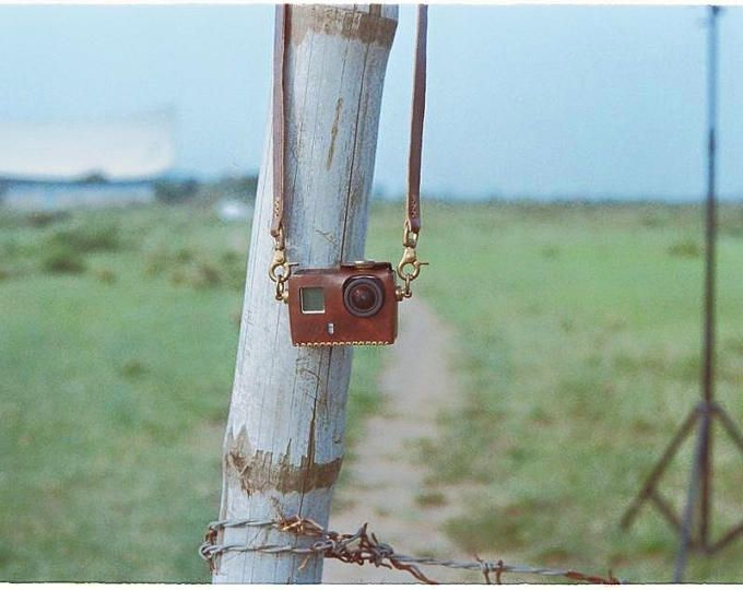 Handmade Leather Case for GoPro Hero 3, Hero 3+