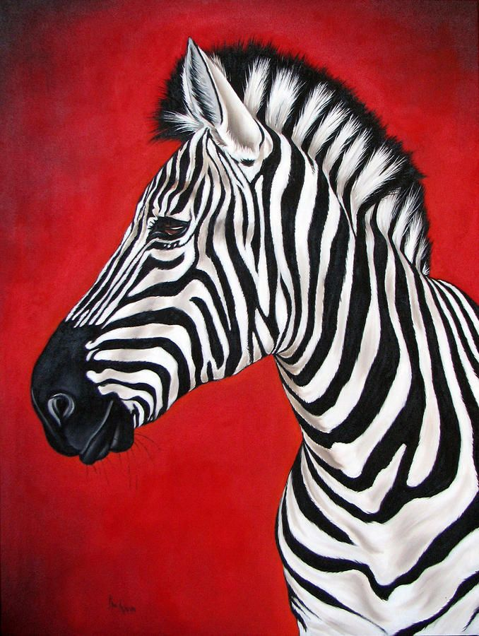 zebra oil painting - photo #13